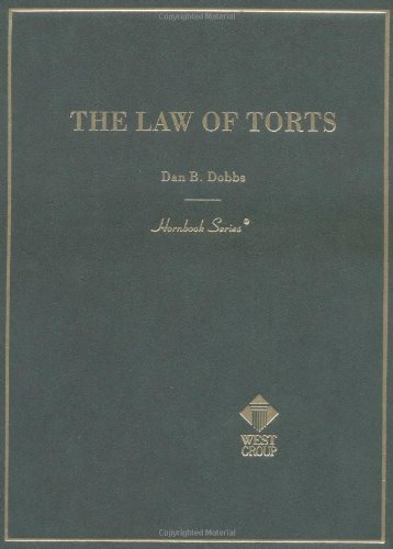 9780314211873: The Law of Torts (Hornbook) (American Casebooks)