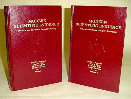 9780314214126: Modern Scientific Evidence (The Law and Science of Expert Testimony, Volume 2)