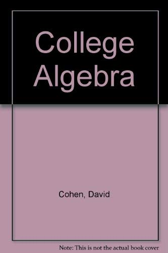 9780314214645: Student's Solutions Manual to Accomany College Algebra: 4th Edition