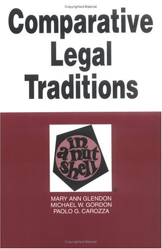 9780314214744: Comparative Legal Traditions in a Nutshell