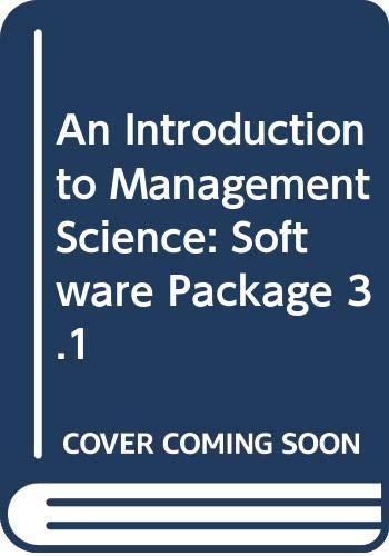 9780314216465: Management Scientist Software, Version 4.0 for Windows
