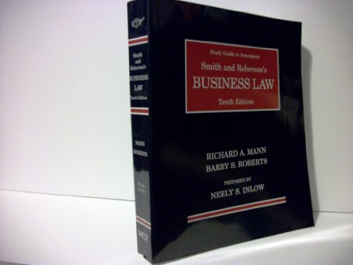 9780314220622: Study Guide to Accompany Smith and Roberson's Business Law