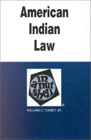 9780314226372: American Indian Law in a Nutshell (Nutshell Series) (In a Nutshell (West Publishing))