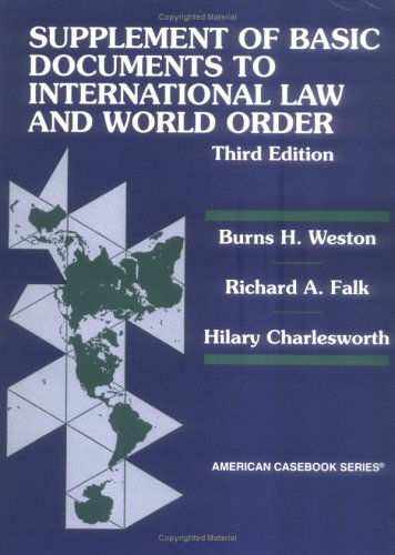 9780314228093: Supplement of Basic Documents to International Law and World Order, Third Edition (American Casebook Series)