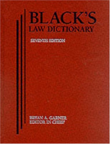 9780314228642: Black's Law Dictionary 7th Edition