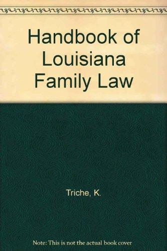 9780314230942: Handbook of Louisiana Family Law