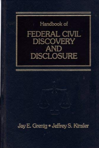 9780314230959: Handbook of Federal Civil Discovery and Disclosure