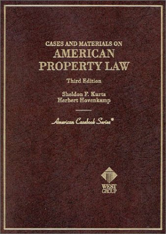 9780314231789: Cases and Materials on American Property Law, 3rd Ed. (American Casebook Series)