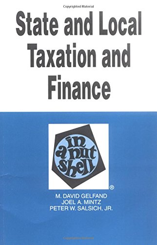 State and Local Taxation and Finance in: Salsich, Peter W.,