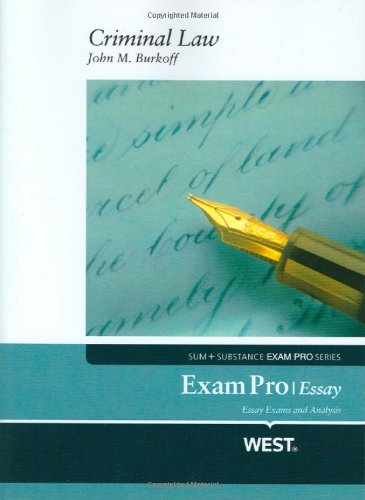 9780314232953: Exam Pro Essay on Criminal Law (Exam Pro Series)