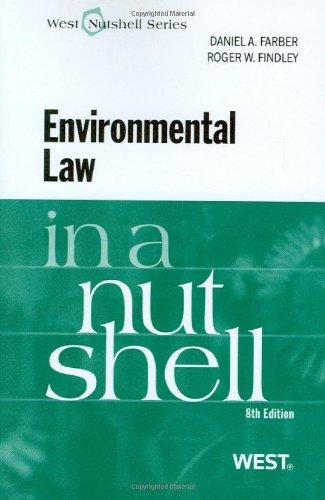 9780314233561: Environmental Law in a Nutshell, 8th (Nutshell Series)