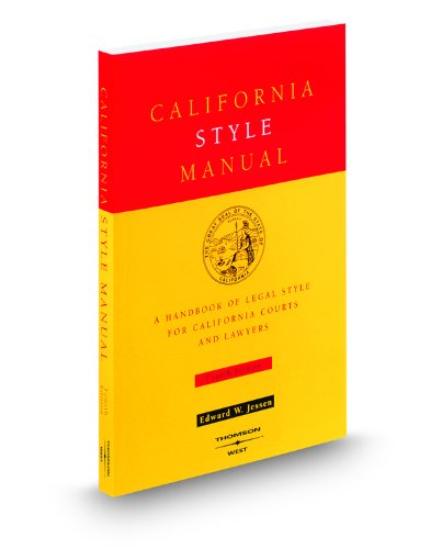 9780314233707: California Style Manual, 4th