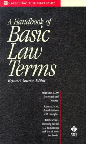 9780314233820: A Dictionary of Basic Law Terms (Black's Law Dictionary Series)