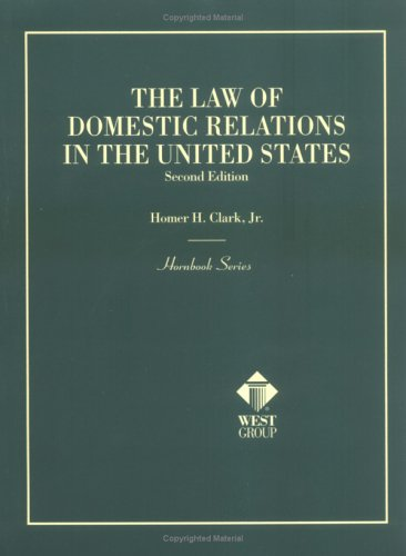 9780314234247: The Law of Domestic Relations in the United States (Hornbook)