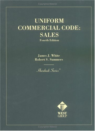 9780314234278: Uniform Commercial Code: Sales (Hornbook Series)