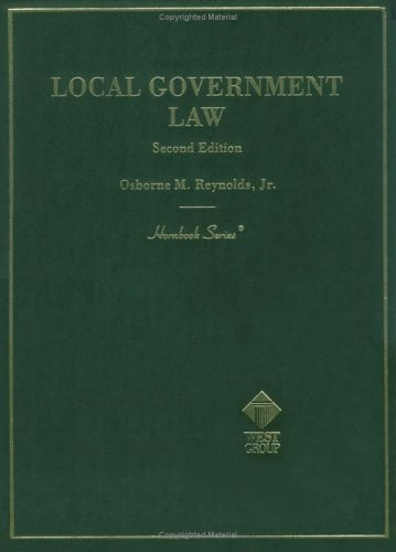 9780314237385: Local Government Law, 2nd Ed. (Hornbook Series and Other Textbooks)