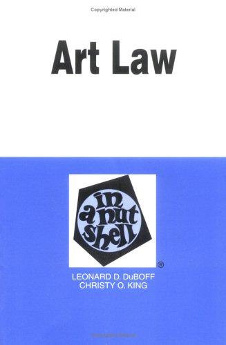 9780314237491: Art Law in a Nutshell (Nutshell Series.)
