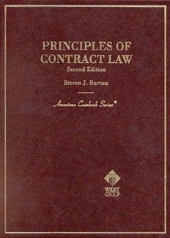 9780314238085: Principles of Contract Law, 2d (American Casebook Series)