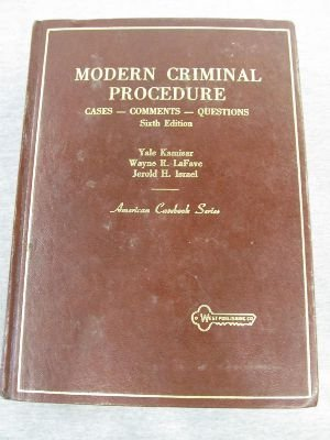 9780314238399: Modern criminal procedure: Cases, comments, and questions (American casebook series)