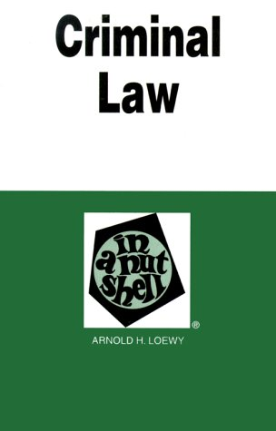 9780314238603: Criminal Law in a Nutshell, 3rd Edition (Nutshell Series)