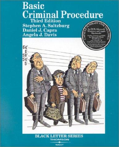 9780314238696: Basic Criminal Procedure (Black Letter Series)