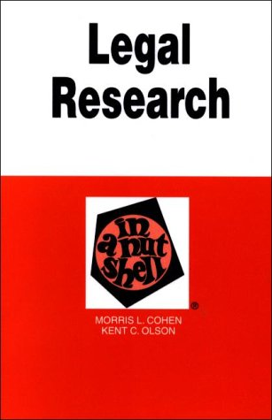 9780314238856: Legal Research in a Nutshell (Nutshell Series.)