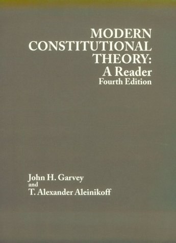 9780314238955: Modern Constitutional Theory : A Reader (American Casebook) (4th ed.) (American Casebook Series)
