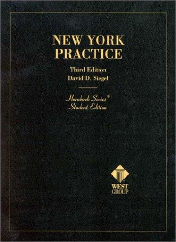 9780314239129: New York Practice (Student Edition) (Hornbook Series)