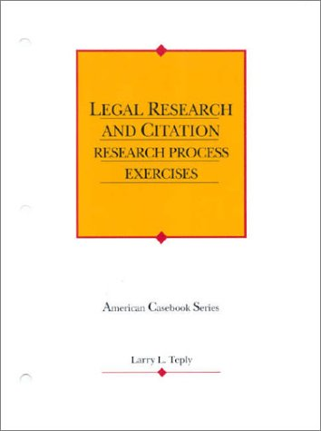 9780314239518: Student Library Exercises to Accompany Legal Research and Citation (American Casebook Series)