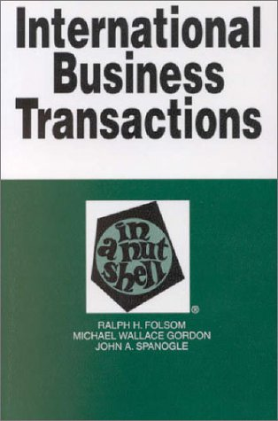 9780314240934: International Business Transactions: In a Nutshell