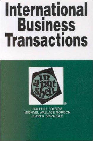 9780314240934: International Business Transactions: In a Nutshell (Nutshell Series.)