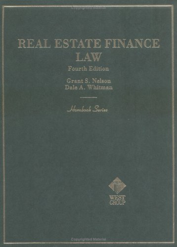 9780314241122: Real Estate Finance Law (Hornbook Series and Other Textbooks)