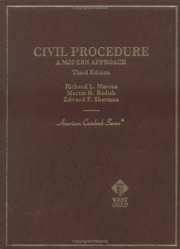 9780314241214: Civil Procedure: A Modern Approach (American Casebook Series and Other Coursebooks)