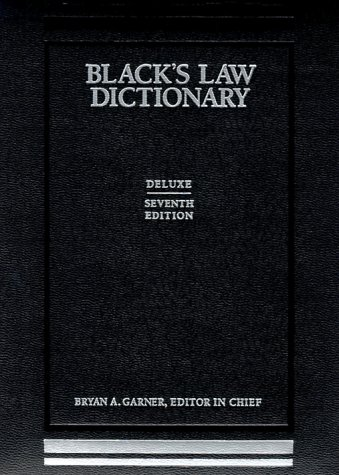9780314241306: Black's Law Dictionary, 7th Deluxe Edition