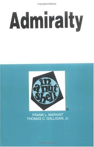 9780314242655: Admiralty in a Nutshell (In a Nutshell (West Publishing))