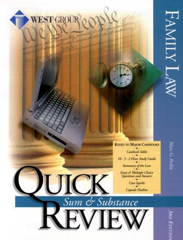9780314242853: Family Law: Quick Review : Sum & Substance (Sum & Substance Quick Review)