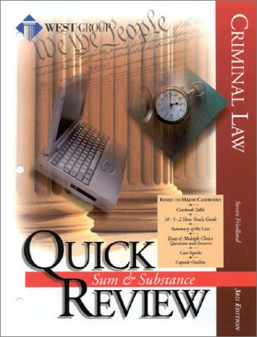 9780314243201: Criminal Law (Sum & Substance Quick Review)