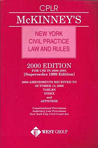 New York Civil Practice Law And Rules: McKinney