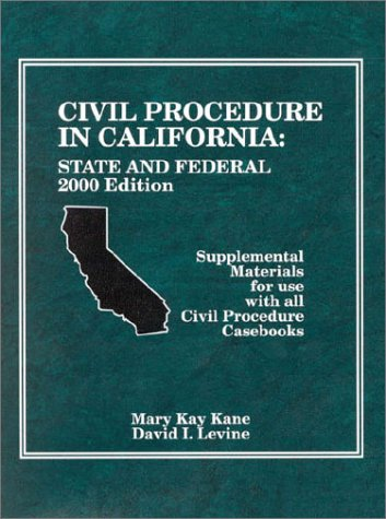 9780314247131: Civil Procedure in California: State and Federal (American Casebook Series and Other Coursebooks)