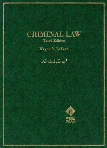 9780314248176: Criminal Law (Hornbook Series)