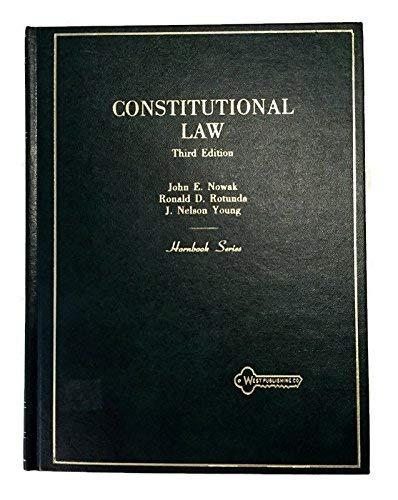 9780314248756: Constitutional Law (Hornbook series)