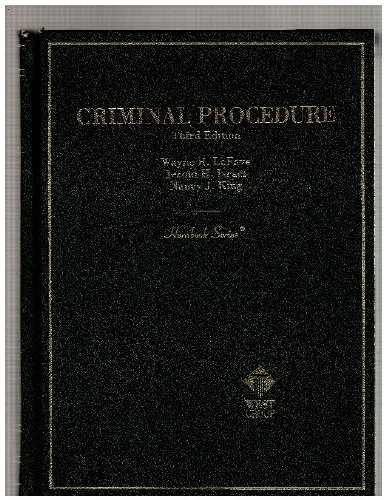 Lafave, Israel, King and Kerr's Criminal Procedure, 5th with Current Pocket Part (Hornbook Series) (0314251073) by LaFave, Wayne R.; Israel, Jerold H.