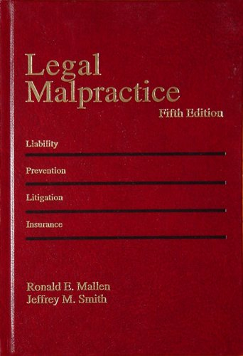 9780314251206: Legal Malpractice, Vol. 4: Sections 27.1 to 32.10 (5th Edition)