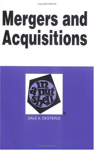 9780314253156: Mergers and Acquisitions in a Nutshell: Mergers and Acquisitions (Nutshell Series)