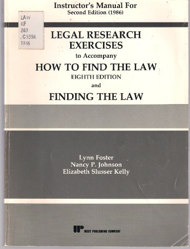 9780314253675: How to Find the Law