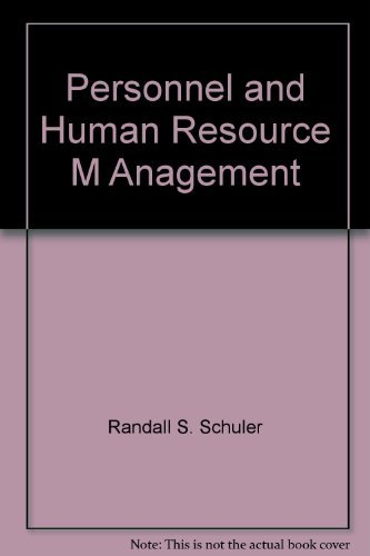 Personnel and Human Resource Management: Schuler, R S