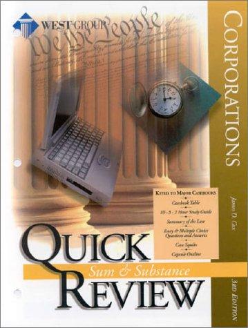 9780314256324: Corporations: Quick Review (Sum & Substance Quick Review)
