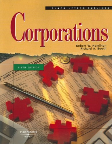 9780314257079: Black Letter on Corporations (Black Letter Outline)