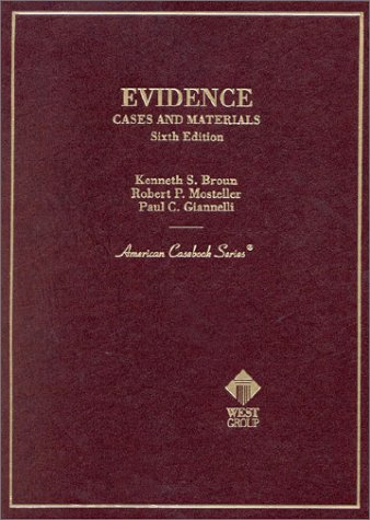 9780314257123: Evidence: Cases and Materials (Miscellaneous)