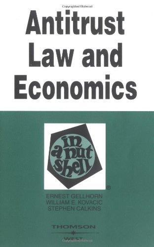 9780314257239: Antitrust Law and Economics in a Nutshell (Nutshells)